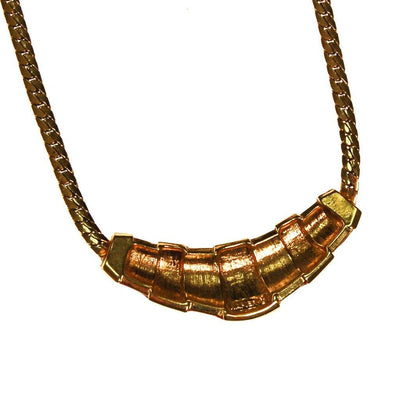 Gold and Red Napier Collar Necklace, 1970s by Napier - Vintage Meet Modern - Chicago, Illinois