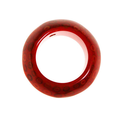 KJL Red Lucite and Wood Bangle Bracelet by Kenneth Jay Lane - Vintage Meet Modern Vintage Jewelry - Chicago, Illinois - #oldhollywoodglamour #vintagemeetmodern #designervintage #jewelrybox #antiquejewelry #vintagejewelry
