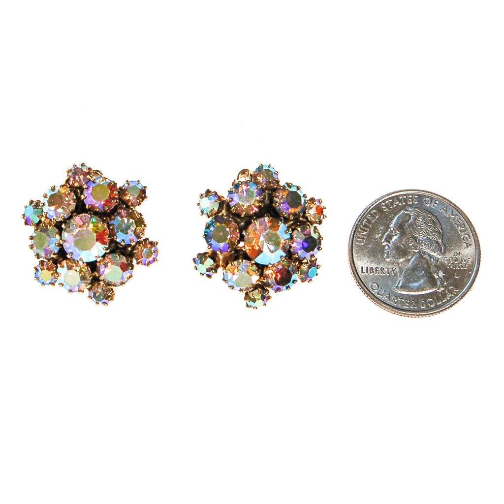 Aurora Borealis Rhinestone Earrings - Vintage Meet Modern  - 3