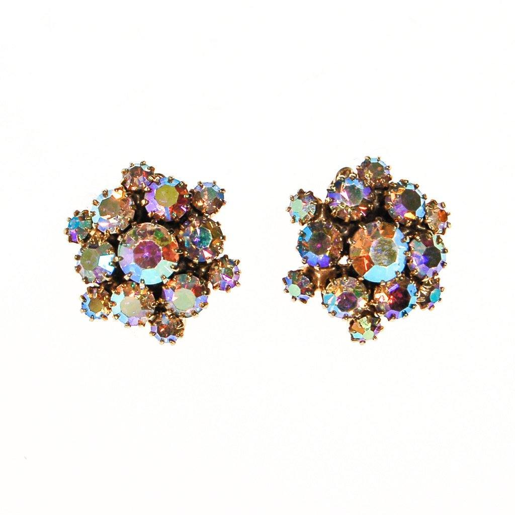 Aurora Borealis Rhinestone Earrings - Vintage Meet Modern  - 2