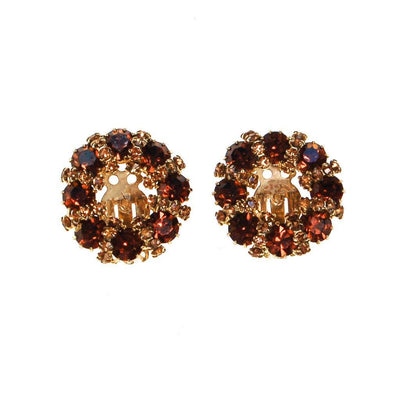 Amber and Smokey Topaz Rhinestone Earrings by Weiss by Weiss - Vintage Meet Modern Vintage Jewelry - Chicago, Illinois - #oldhollywoodglamour #vintagemeetmodern #designervintage #jewelrybox #antiquejewelry #vintagejewelry