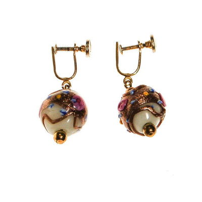 Murano Glass Wedding Cake Bead Earrings by Unsigned Beauty - Vintage Meet Modern Vintage Jewelry - Chicago, Illinois - #oldhollywoodglamour #vintagemeetmodern #designervintage #jewelrybox #antiquejewelry #vintagejewelry