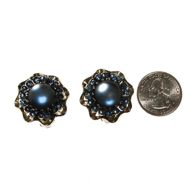Blue Frosted Crystal Rhinestone Earrings by Unsigned Beauty - Vintage Meet Modern Vintage Jewelry - Chicago, Illinois - #oldhollywoodglamour #vintagemeetmodern #designervintage #jewelrybox #antiquejewelry #vintagejewelry