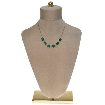 Art Deco Emerald Crystal Choker Necklace by Art Deco - Vintage Meet Modern Vintage Jewelry - Chicago, Illinois - #oldhollywoodglamour #vintagemeetmodern #designervintage #jewelrybox #antiquejewelry #vintagejewelry