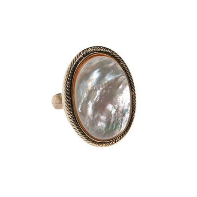 Mother of Pearl Statement Ring by Whiting and Davis - Vintage Meet Modern - Chicago, Illinois