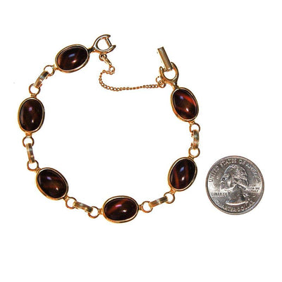 Sarah Coventy Tigers Eye Bracelet by Sarah Coventry - Vintage Meet Modern Vintage Jewelry - Chicago, Illinois - #oldhollywoodglamour #vintagemeetmodern #designervintage #jewelrybox #antiquejewelry #vintagejewelry
