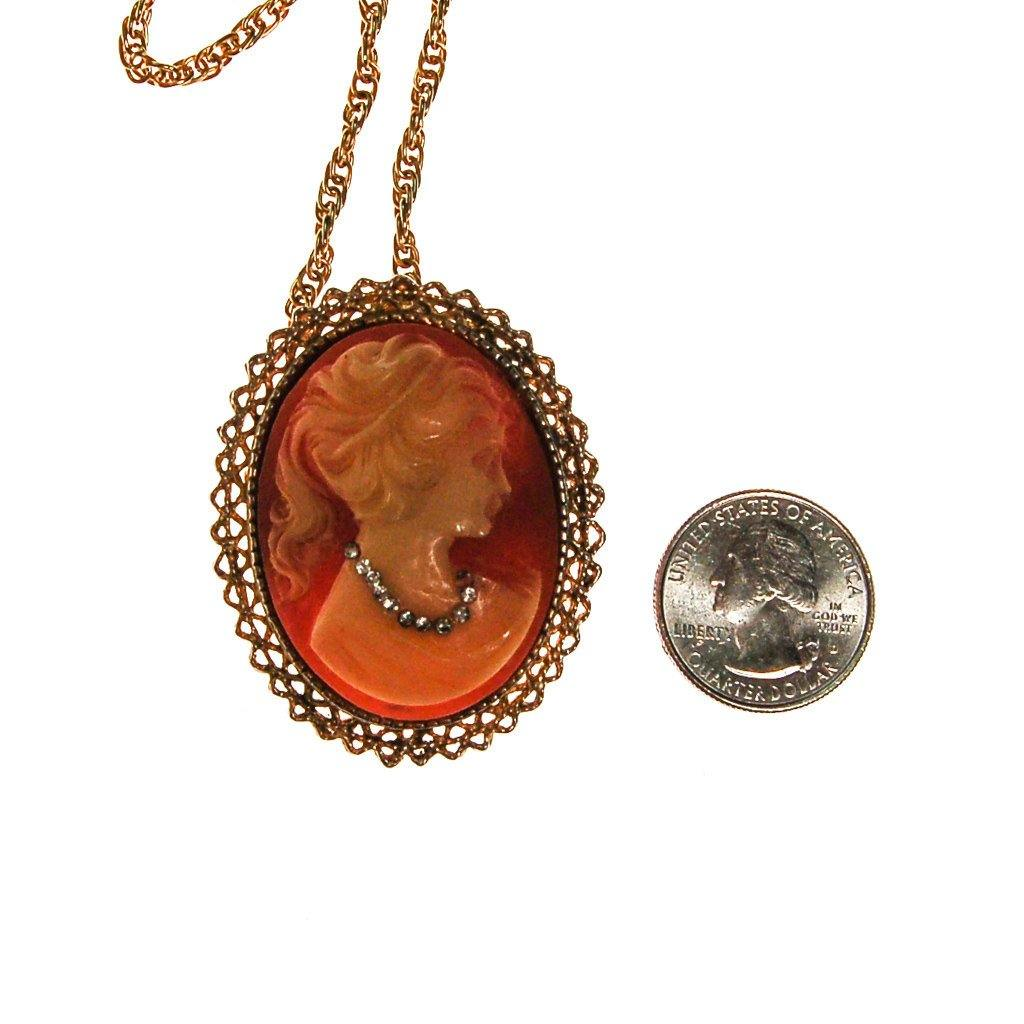 Victorian Revival Cameo Pendant Necklace - Vintage Meet Modern  - 5