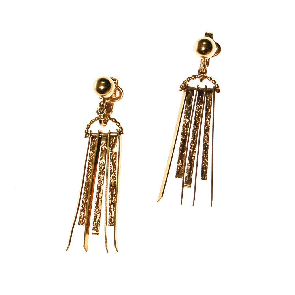 Gold Dagger Spike Earrings by Winard - Vintage Meet Modern  - 3
