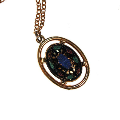 Sarah Coventry Mosaic Pendant Necklace by Sarah Coventry - Vintage Meet Modern Vintage Jewelry - Chicago, Illinois - #oldhollywoodglamour #vintagemeetmodern #designervintage #jewelrybox #antiquejewelry #vintagejewelry