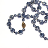 Chinese Export Blue and White Porcelain Bead Necklace - Vintage Meet Modern  - 2