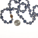 Chinese Export Blue and White Porcelain Bead Necklace - Vintage Meet Modern  - 3