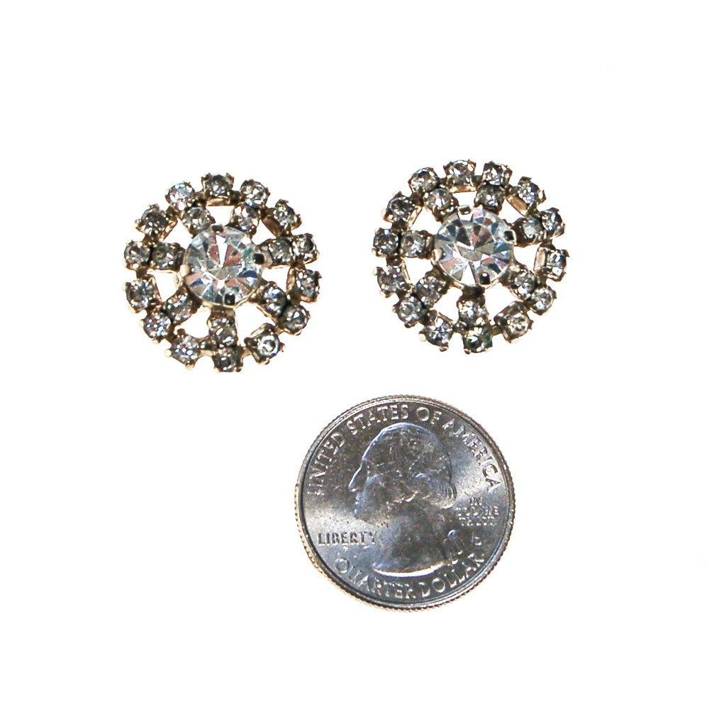 Diamante Rhinestone Earrings - Vintage Meet Modern  - 3