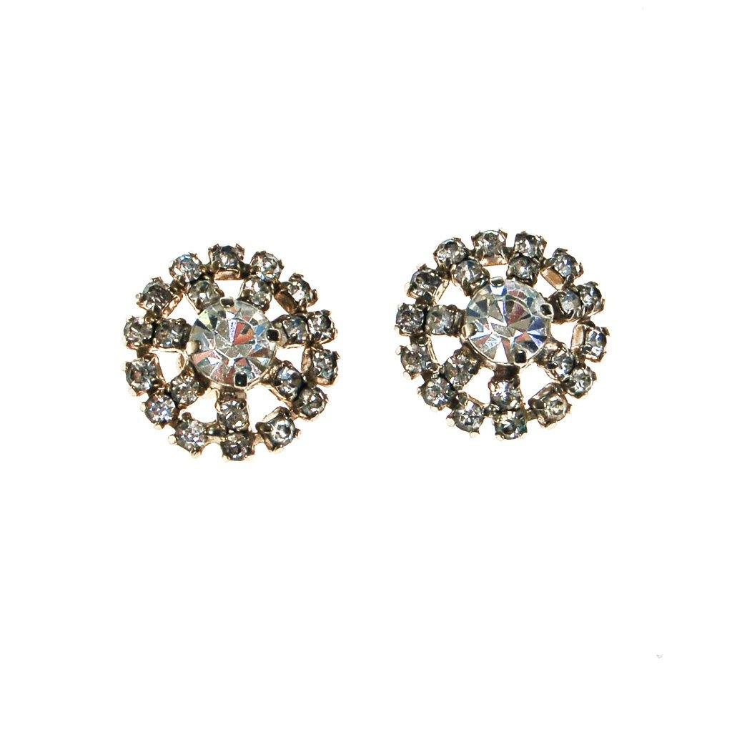 Diamante Rhinestone Earrings - Vintage Meet Modern  - 2