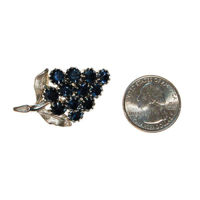 Sapphire Rhinestone Cluster of Grapes Brooch by Unsigned Beauty - Vintage Meet Modern Vintage Jewelry - Chicago, Illinois - #oldhollywoodglamour #vintagemeetmodern #designervintage #jewelrybox #antiquejewelry #vintagejewelry