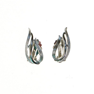 Sarah Coventry Silver Flame Earrings by Sarah Coventry - Vintage Meet Modern - Chicago, Illinois