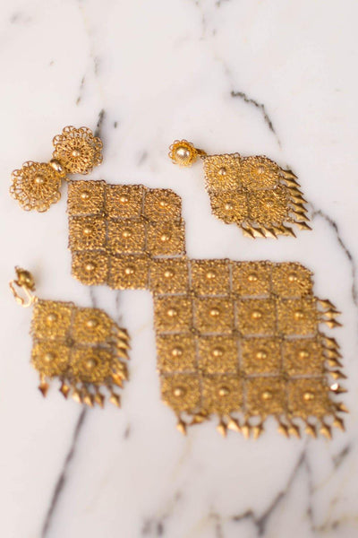 Massive Gold Filigree Brooch, 1960s, Designer Vintage Jewelry by Unsigned Beauty - Vintage Meet Modern - Chicago, Illinois
