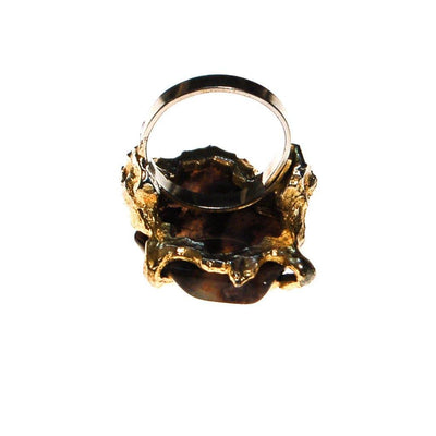 Brutalis Modern Spotted Agate Statement Ring by Artisan - Vintage Meet Modern - Chicago, Illinois