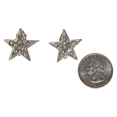 Rhinestone Star Clip On Earrings by Unsigned Beauties - Vintage Meet Modern Vintage Jewelry - Chicago, Illinois - #oldhollywoodglamour #vintagemeetmodern #designervintage #jewelrybox #antiquejewelry #vintagejewelry