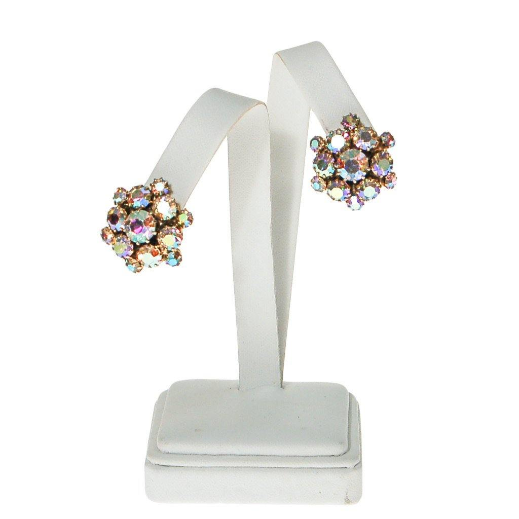 Aurora Borealis Rhinestone Earrings - Vintage Meet Modern  - 5
