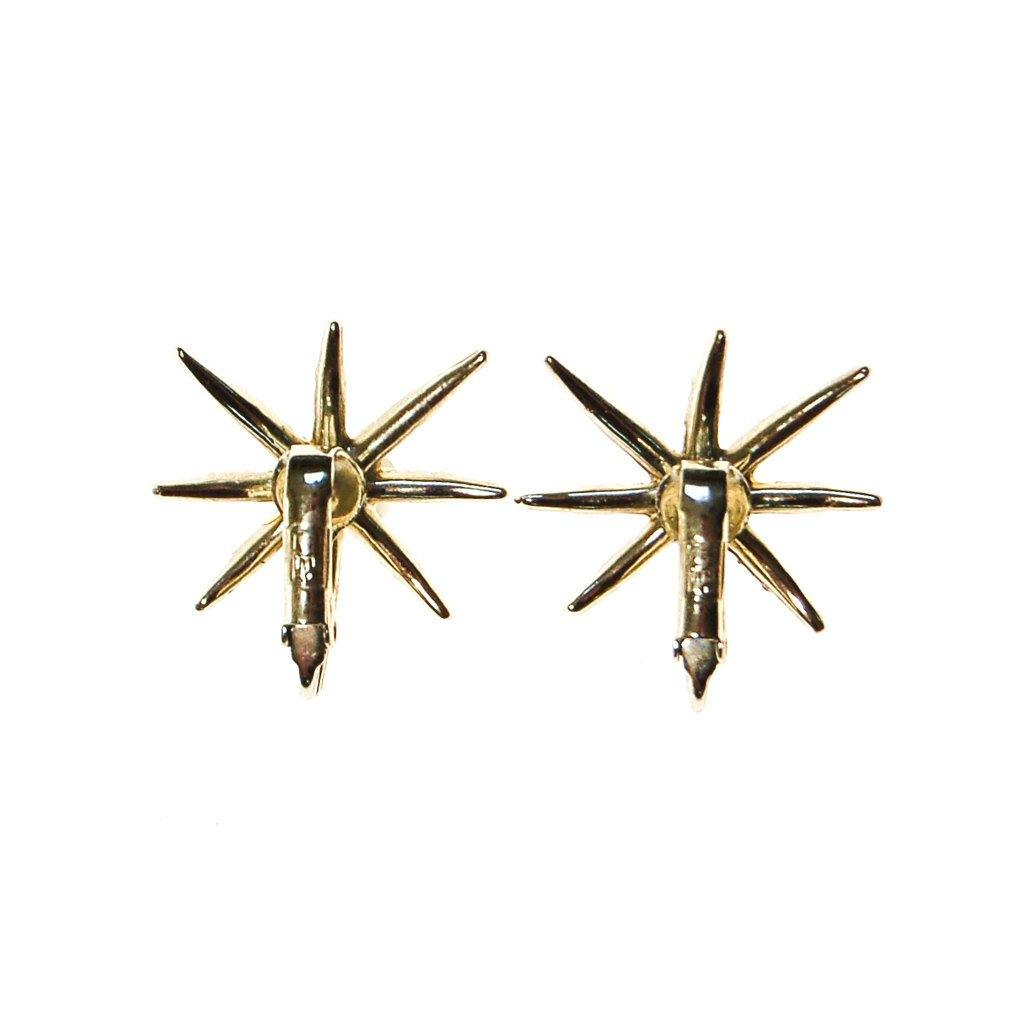 Judy Lee Gold Rhinestones Star Earrings - Vintage Meet Modern  - 3