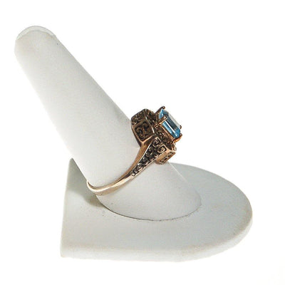 Sterling Silver Filigree with Blue Topaz Ring by Sterling Silver - Vintage Meet Modern - Chicago, Illinois
