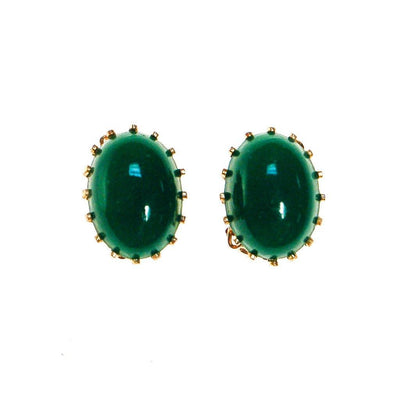 Emerald Green Earrings by Made in Japan - Vintage Meet Modern - Chicago, Illinois