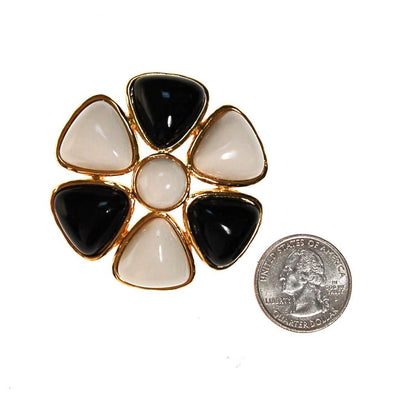 Miss Valentino Black and White Brooch by Miss Valentino - Vintage Meet Modern Vintage Jewelry - Chicago, Illinois - #oldhollywoodglamour #vintagemeetmodern #designervintage #jewelrybox #antiquejewelry #vintagejewelry