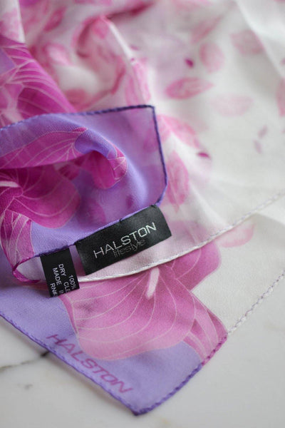 Pink and Purple Calla Lily Scarf by Halston - {{ vintage.meet.modern.jewelry. }}
