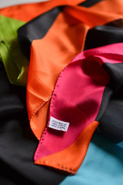 Bright Color Block Silk Scarf by Silk - Vintage Meet Modern - Chicago, Illinois