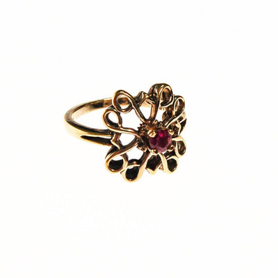 Sterling and Ruby Ring by Sterling Silver - Vintage Meet Modern Vintage Jewelry - Chicago, Illinois - #oldhollywoodglamour #vintagemeetmodern #designervintage #jewelrybox #antiquejewelry #vintagejewelry