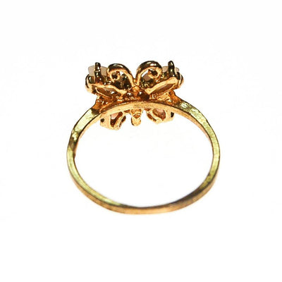 Butterfly Ring, Angel Skin Coral by unsigned - Vintage Meet Modern Vintage Jewelry - Chicago, Illinois - #oldhollywoodglamour #vintagemeetmodern #designervintage #jewelrybox #antiquejewelry #vintagejewelry