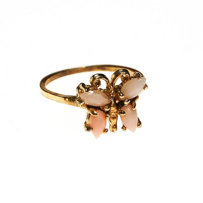 Butterfly Ring, Angel Skin Coral, ring - Vintage Meet Modern