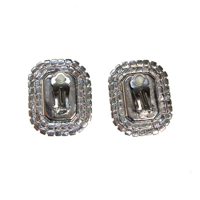 Huge Diamante Rhinestone Statement Earrings, Silver Tone, Clip On, Glam, Sparkly by 1950s - Vintage Meet Modern Vintage Jewelry - Chicago, Illinois - #oldhollywoodglamour #vintagemeetmodern #designervintage #jewelrybox #antiquejewelry #vintagejewelry