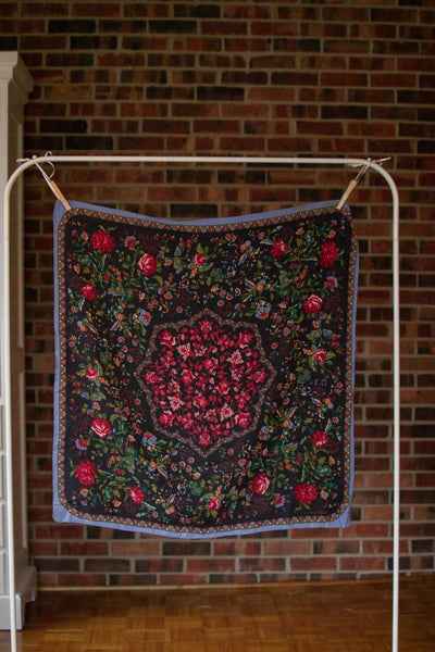 Laura Ashley Colorful Floral Silk Scarf by Laura Ashley - Vintage Meet Modern - Chicago, Illinois