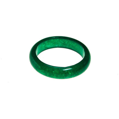 Green Jade Band Ring by Jade - Vintage Meet Modern Vintage Jewelry - Chicago, Illinois - #oldhollywoodglamour #vintagemeetmodern #designervintage #jewelrybox #antiquejewelry #vintagejewelry
