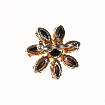 Yellow and Black Rhinestone Sunflower Scatter Pin by Unsigned Beauty - Vintage Meet Modern - Chicago, Illinois
