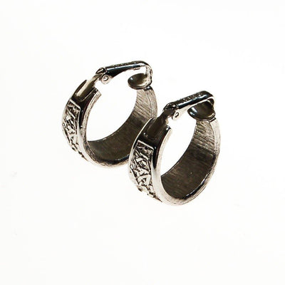 Crown Trifari Silver Hoop Earrings by Crown Trifari - Vintage Meet Modern Vintage Jewelry - Chicago, Illinois - #oldhollywoodglamour #vintagemeetmodern #designervintage #jewelrybox #antiquejewelry #vintagejewelry