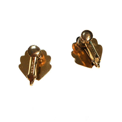 Napier Gold Shell Earrings by Napier - Vintage Meet Modern Vintage Jewelry - Chicago, Illinois - #oldhollywoodglamour #vintagemeetmodern #designervintage #jewelrybox #antiquejewelry #vintagejewelry