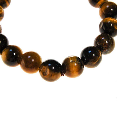 Tigers Eye Bracelet, Beaded by unsigned - Vintage Meet Modern Vintage Jewelry - Chicago, Illinois - #oldhollywoodglamour #vintagemeetmodern #designervintage #jewelrybox #antiquejewelry #vintagejewelry