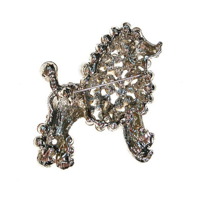 Pearl and Rhinestone Poodle Brooch by Unsigned Beauty - Vintage Meet Modern - Chicago, Illinois