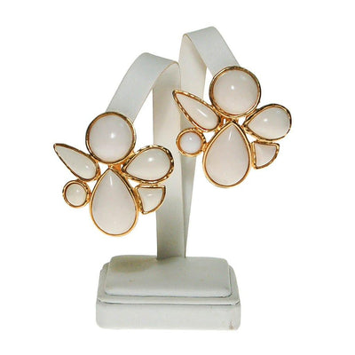 Miss Valentino White Lucite Statement Earrings by Miss Valentino - Vintage Meet Modern - Chicago, Illinois