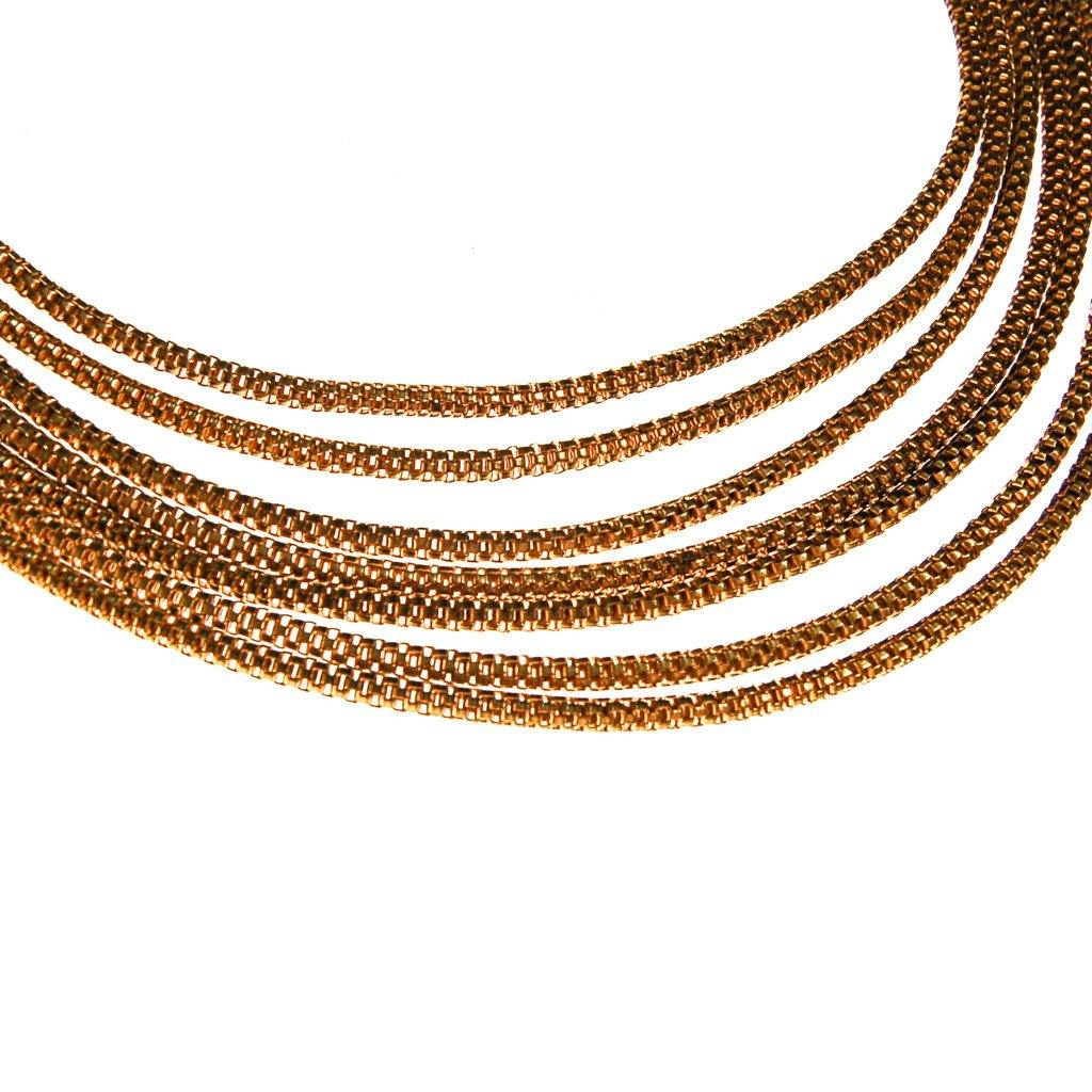 1940s Gold Multi Strand Chain Necklace