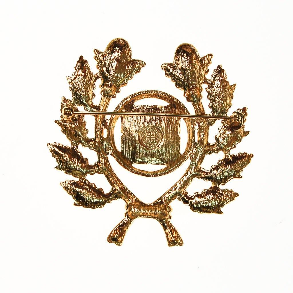 Vintage Wheat Logo Collection: Givenchy Gold Logo Brooch