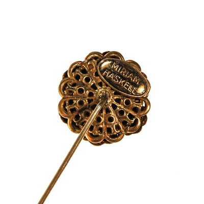Miriam Haskell Gold Flower Stick Pin by Miriam Haskell - Vintage Meet Modern - Chicago, Illinois