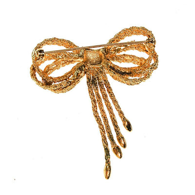 Gold Bow Brooch by Unsigned Beauty - Vintage Meet Modern Vintage Jewelry - Chicago, Illinois - #oldhollywoodglamour #vintagemeetmodern #designervintage #jewelrybox #antiquejewelry #vintagejewelry