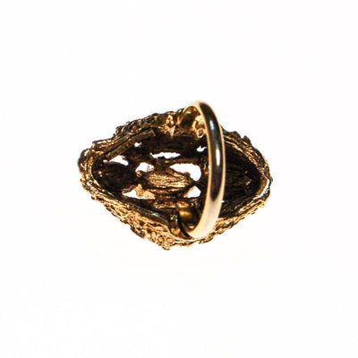 Vogue Smokey Topaz Crystal Statement Ring, Adjustable by unsigned - Vintage Meet Modern - Chicago, Illinois