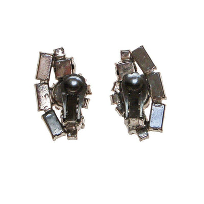 Art Deco  Diamante Rhinestone Earrings set in Silver Tone by Art Deco - Vintage Meet Modern - Chicago, Illinois