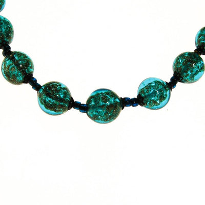 Aqua Aventurine Glass Bead Necklace by unsigned - Vintage Meet Modern Vintage Jewelry - Chicago, Illinois - #oldhollywoodglamour #vintagemeetmodern #designervintage #jewelrybox #antiquejewelry #vintagejewelry