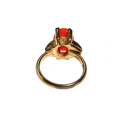 Vogue Vintage Coral Cabochon Statement Ring by Vogue - Vintage Meet Modern Vintage Jewelry - Chicago, Illinois - #oldhollywoodglamour #vintagemeetmodern #designervintage #jewelrybox #antiquejewelry #vintagejewelry