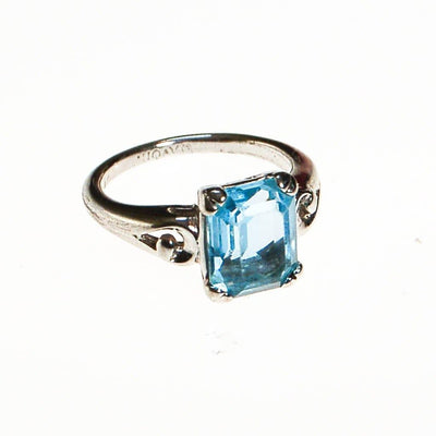 Emerald Cut Blue Topaz Ring by Avon by Avon - Vintage Meet Modern Vintage Jewelry - Chicago, Illinois - #oldhollywoodglamour #vintagemeetmodern #designervintage #jewelrybox #antiquejewelry #vintagejewelry